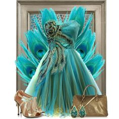 Metallic Peacock, created by jackaford-bittick on Polyvore