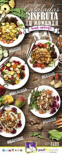 ¿Hart@ de comidas pesadas con este calor? Disfruta tu momento #FreshEating con nuestras #ensaladas y ¡date un homenaje con pocas calorías! #TopSalads #HaveFun Os esperamos en #Granada, #Málaga (Teatinos), #Ibiza y #Fuengirola www.padthaiwok.com