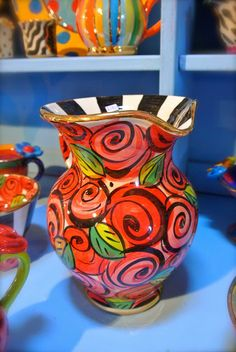 Fashion Mumblr: Mary Rose Young Pottery in the Forest of Dean  Bright and Colourful pottery from Mary Rose Young in the Forest of Dean #pottery #bright #colourful #local #artist #madhatters
