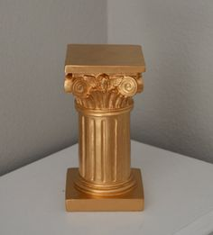 Greek Column Decor. Pillar Candle Holder. Pillar pomander stand. Gatsby decor. Wedding Centerpiece. Vintage Wedding. Greek Decor.