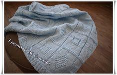 copertina ai ferri con quadrati e rombi Warm Hug, Knitted Blankets, Baby Blankets, Trends, Baby Love, Baby Knitting, Crochet, Plaid Scarf, Knitting Patterns