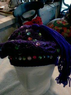 Purple jeweled Tam