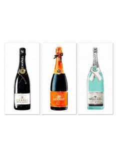 Champagne (Canvas) (Set of 3) by Oliver Gal at Gilt