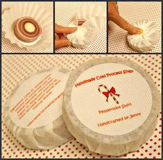 Coffee filter soap packaging.