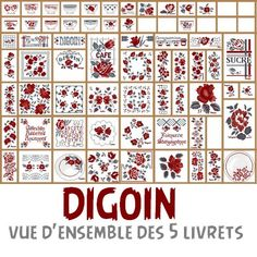 Various motifs DIGOIN for Locker - embroidery Cross Stitching, Cross Stitch Embroidery, Cross Stitch Flowers, Le Point, Needlepoint, Lockers, Free Pattern, Diy And Crafts, Alphabet