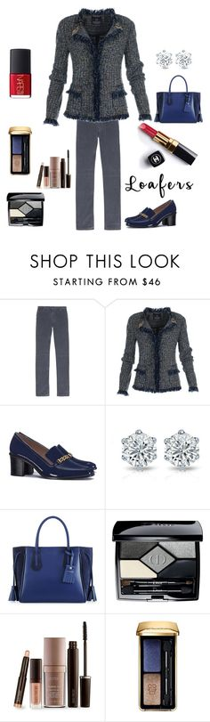 """Untitled #3110"" by kotnourka ❤ liked on Polyvore featuring 120% Lino, Tory Burch, Chanel, Longchamp, Christian Dior, Laura Mercier, Guerlain and NARS Cosmetics"