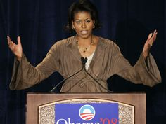 Michelle Obama, wife of Democratic presidential hopeful Sen. Barack Obama, D-Ill., spoke at a Women for Obama luncheon in Chicago, Monday, April 16, 2007. Young Michelle Obama, Michelle Obama Fashion, Barack Obama, Presidents, Nostalgia, Chicago, Usa, Women, U.s. States