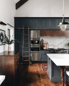 My Ladder bar! Omg! I need this set up in my new kitchen! I'm so tired of moving stools around! Amazing!