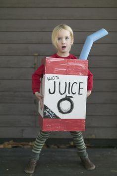 Make a Juice Box Costume from a Cardboard Box