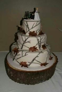 Snow camo cake