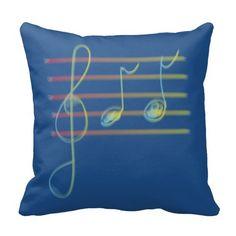 Music Spring Pillow Throw Cushion