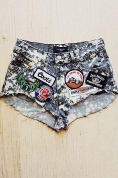 Vintage Renewed Thrashed N Patched Shorts