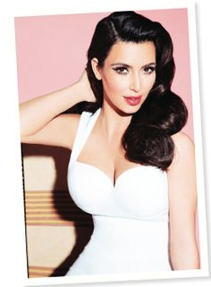 Kim's channeling old hollywood glamour in this amazing shot by Ellen von Unwerth for the Kardashian Kollection for Dorothy Perkins! Co...