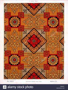Stock Photo - George Harrison & Co (Bradford) Linoleum, 2 yards wide [Victorian