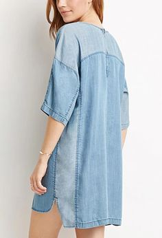 Life in Progress Chambray Shift Dress | Forever 21 | #triedandtrue
