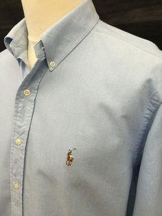 £40 Current Season #RalphLauren #Mens #Shirt Large Classic Fit Blue #Oxford Cotton #menswear #mensfashion #mensstyle