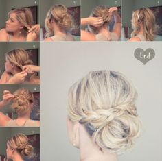 Easy cute braided bun