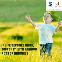 """#thoughtoftheday #SalarpuriaSattva #SattvaGroup """"If life becomes hard, soften it with conscious acts of kindness."""" The kind and calm touch at Salarpuria Sattva Homes brings peace in your life. #life #peace #calm #kindness #soft"""