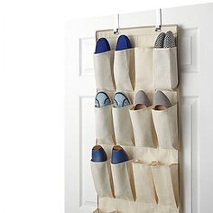 Organize any area of your home with the fantastic and large Real Simple 24-Pocket Over-the-Door Shoe Organizer, useful for shoes or any other kind of accessory you can think of. It fits easily onto most doors and can hold as many as 12 pairs of shoes.