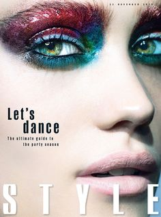 Magazine: Sunday Times Style 22nd November 2015 Beauty Editorial: Let's Dance - The Ultimate Guide to the Party Season Photographer: Michael Baumgarten Hair: Lisa Eastwood Makeup: Lisa Eldridge Glossy makeup looks in bold, bright colors.