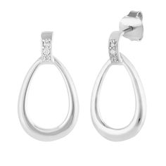 Beautiful Amore Earrings with white Zircon in silver Jewellery