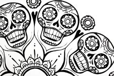 Sugar Skulls Coloring Pages | Coloring Pages Gallery