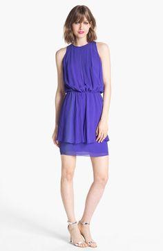 Nicole Miller Blouson Peplum Dress available at #Nordstrom