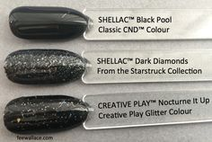 dark diamonds shellac and vinylux compared to other cnd colours