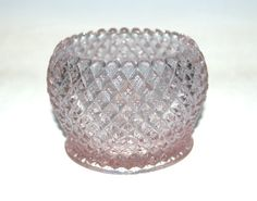 Westmoreland Glass English Hobnail Pink Pastel Small Cupped Rose Bowl New #Westmoreland