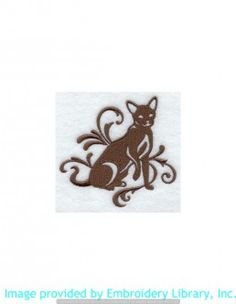 Stickmotiv Stickbild Aufnäher Stickerei Emblem Havana-Katze  Havana-Katze /  Stickerei Graceful Havana Brown (G5219)