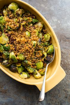 Brussels sprout lovers, you are in for a treat. Pan Roasted Brussels Sprouts with Chorizo and Toasted Bread Crumbs are full of great flavor and texture.