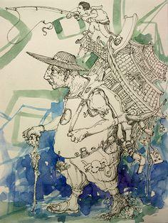 Image 10 - 13 x 10 Pen, watercolor