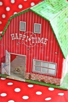 vintage litho barn