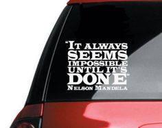 "Nelson Mandela Inspirational Classroom Quote Vinyl Wall Sticker Decal 7.5""h x 10""w"