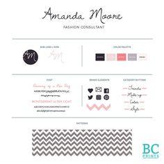 Premade Logo and Brand Identity-Typography by BlondeCoffeePrints