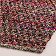 "Taos Meadows Flatweave Area Rug | World Market $599 for 7.6""×9.6"""