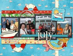 Another calendar page celebrating a fantastic family reunion: a cruise!