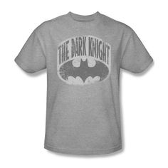 Batman The Dark Knight Vintage Logo Youth Ladies Jr V-Neck L/S Men T-shirt Top #Trevco #GraphicTee