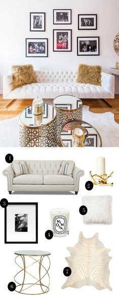 Get The Look: Glam Living Room | Chronicles of Frivolity