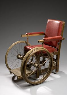 Antique Wheelchair Medical Surgical Physical Therapy Rehab