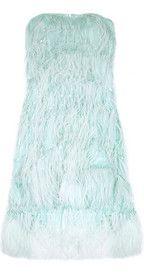 OSCAR DE LA RENTA  Feathered silk dress  £4,358