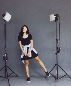 Nadine during her ChainMail photoshoot Nadine Lustre Ootd, Nadine Lustre Fashion, Nadine Lustre Outfits, Filipino Fashion, Korean Fashion, Black Dress Pants, Pants Outfit, Lady Luster, Filipina Actress