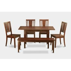 Found it at Wayfair - East West Furniture Norfolk 6 Piece Dining Set - Chair Upholstery: Non-Upholstered Woodhttp://www.wayfair.com/East-West-Furniture-Norfolk-6-Piece-Dining-Set-EWFR1471.html?refid=SBP