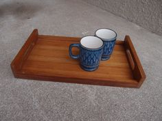 Vintage Mid Century Wooden Serving Tray Bed Tea by QUIVERreclaimed