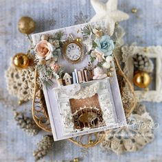 scrapbooking of a card: 14 thousand images are found in Yandex. Christmas Car Decorations, Diy Christmas Cards, Christmas Projects, Christmas Fun, Paper Box Tutorial, Christmas Gifts For Friends, Shabby Chic Crafts, Diy Weihnachten, Winter Cards