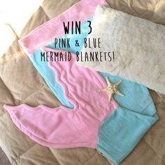 Sparkly tiny sequins and gorgeous silver mermaid scales. DIVINE! Enter to win a free blanket here!!
