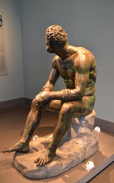 Thermae Boxer, hellenistic bronze found on the slopes of the Quirinal Hill in 1885.