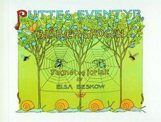 """""""Puttes eventyr i blåbærskogen"""" av Elsa Beskow Elsa Beskow, Ark, Folklore, Childhood Memories, Teen, Artwork, Book Covers, Books, Work Of Art"""