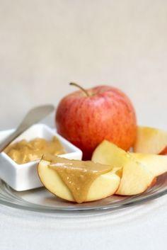 Apples & peanut butter healthy snack idea