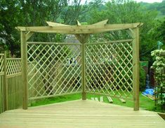 Our premier diamond trellis panels make striking enclosures, screens and features in your garden and are ideal for use with pergola systems; Pergola D'angle, Building A Pergola, Corner Pergola, Pergola Shade, Pergola Lighting, Wisteria Pergola, Cheap Pergola, Building Plans, Wooden Pergola Kits